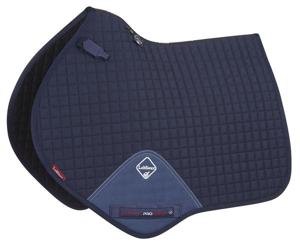 LeMieux Close Contact saddle pad  Suede with Binding Navy